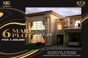 6 Marla Plot for Sale in Royal Residencia Block C