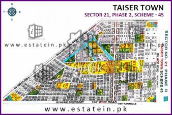 120 yards for sale in Sector 21 Taiser Town Phase 2