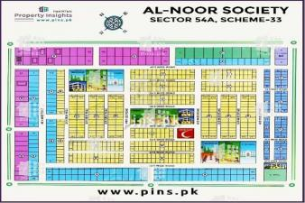 400 Yards Plots for Sale in Alnoor Society Scheme 33 Sector 54A