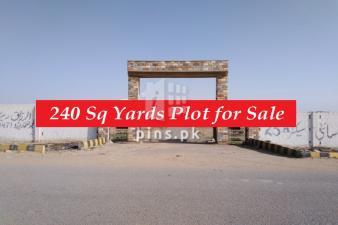 240 Yards West Open plot for Sale in Karachi Bar 25A Scheme 33