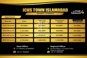 ichs town islamabad phase2 A block 1 kanal plot for sale