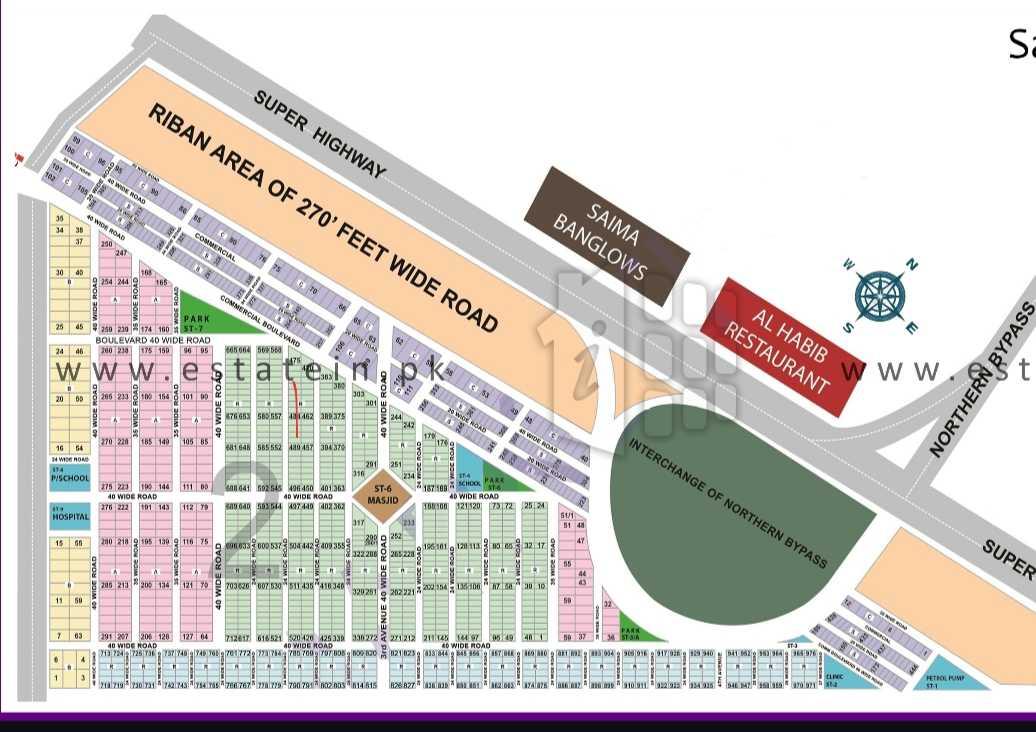 120 Sqy West Open Plot for Sale Saadi Garden