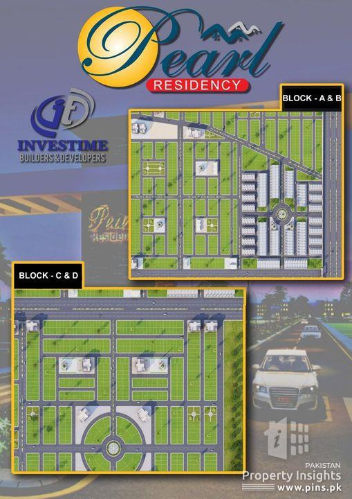Pearl Residency 120 Square Yard RESIDENTIAL PLOT ON EASY INSTALLMENT