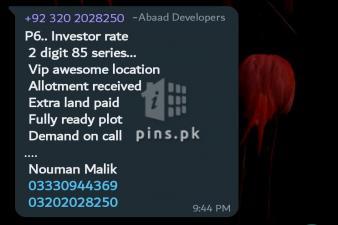 500 yards Plot for Sale in Precinct 4 Bahria Town Karachi