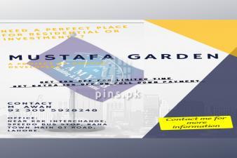 3 Marla Residential Plot Available for sale in Mustafa Garden Lahore