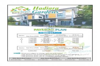 Hadiara gardens Lahore housing scheme plot for sale only in 40000 per month