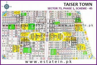 Sector 73/3 120 yards Plot for Sale Taiser Town Karachi
