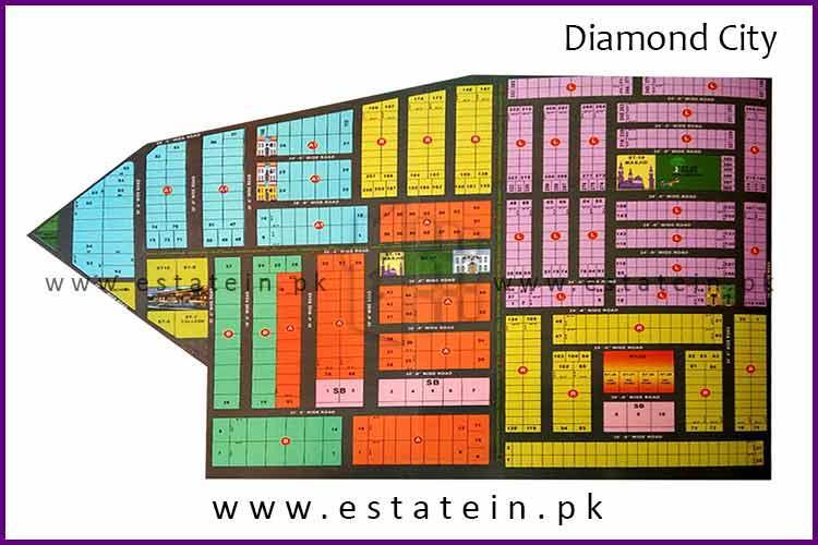 200 Sq Yard Plot for Sale in Diamond City Karachi