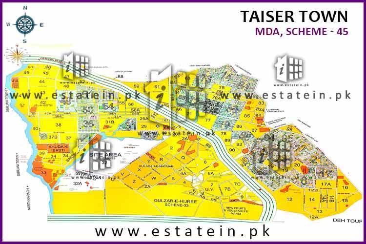 120 Sqy Plot For Sale Sector 72 Phase 1 Taiser Town Karachi