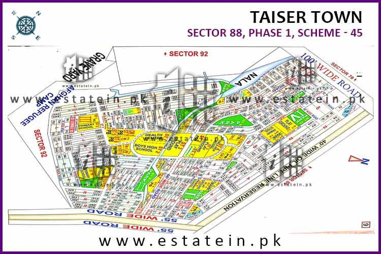 240 Sq yards plot for sale in Sector 88 Taiser Town