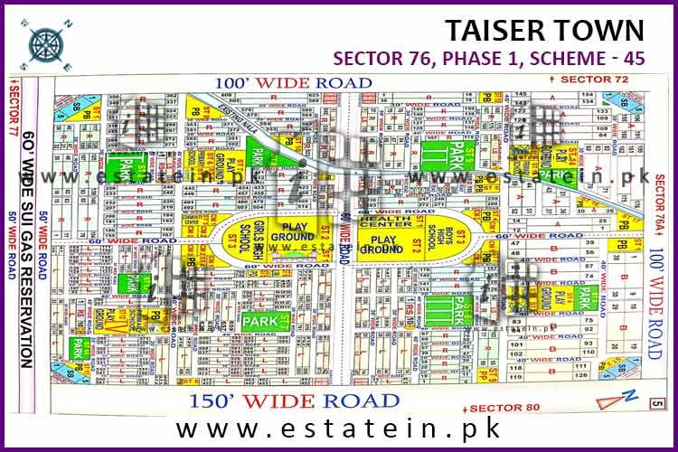 120 Sqy Plot for Sale Sector 73 Taiser Town Karachi