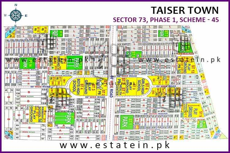 80 Sqy Plot for Sale Sector 73 Taiser Town Karachi