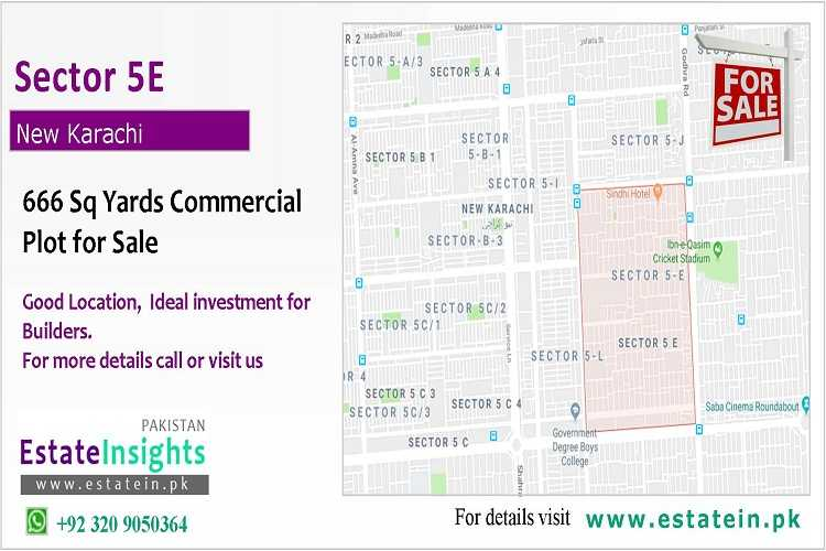 666 Sq Yards Commercial Sector 5E New Karachi