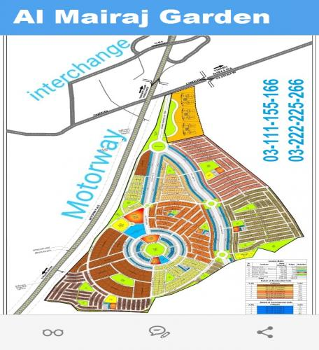 Al Mairaj garden Islamabad 5 8 10 Marla plot for sale on installments by AMBD