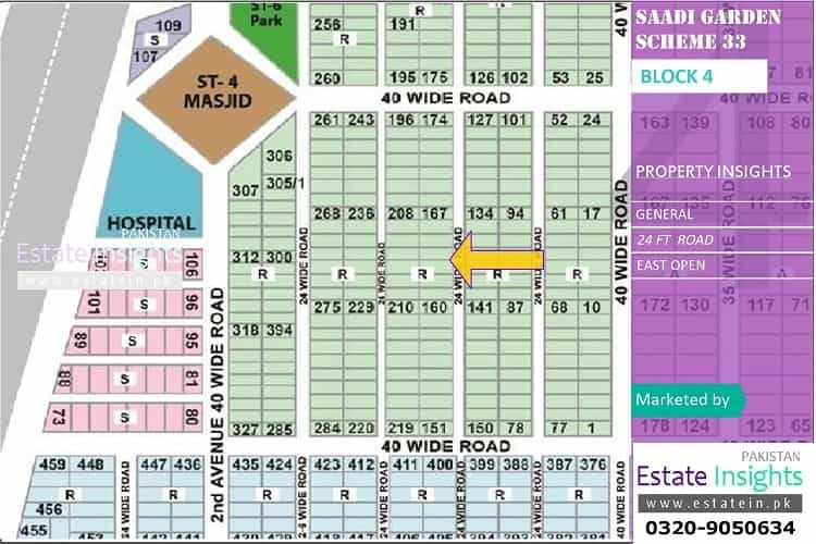 120 Sqy Plot for Sale in Saadi Garden Block 4