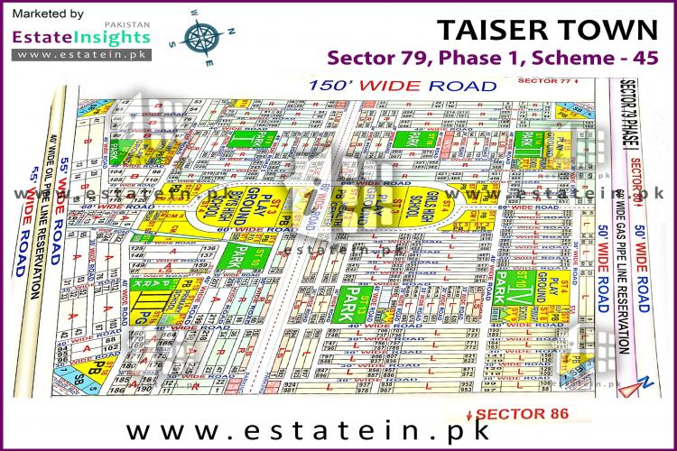 Sector 79 sub sector 4 Taiser town 80 Sq Yards Plot for Sale