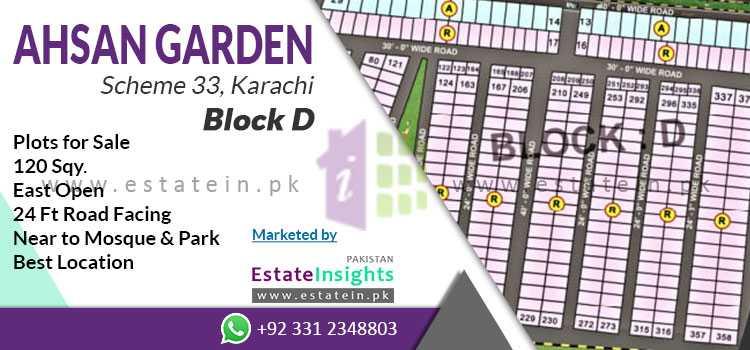 120 Sq. Yards Plot For Sale in Ahsan Garden Scheme 33