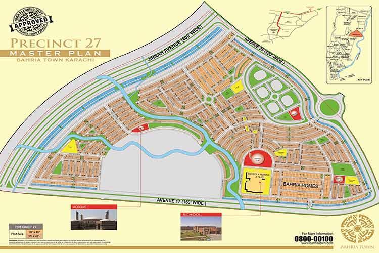 125 Sqy on Main Jinnah Avenue Precinct 27 Plot for Sale