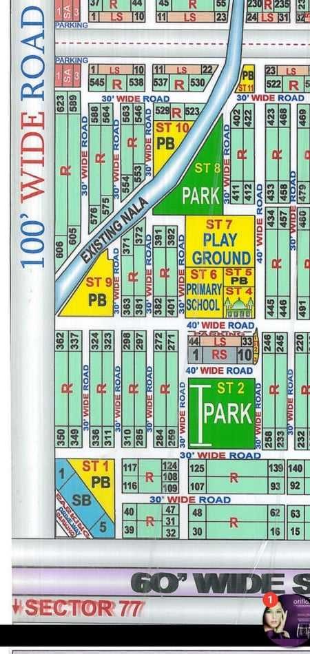 Plot for sale in Sector 76/1 Taiser Town Karachi