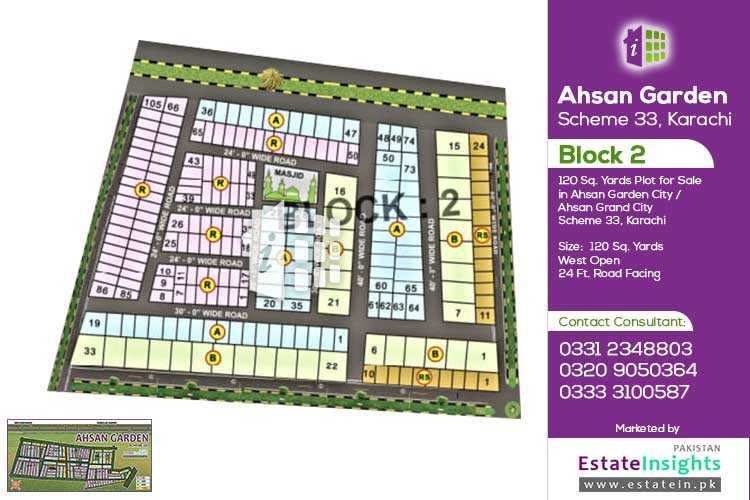 120 Sqy Plot For Sale in Ahsan Garden Scheme 33