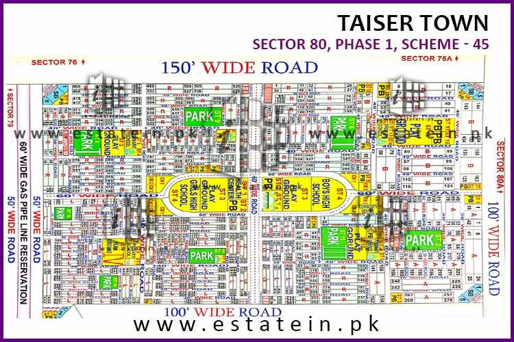 Taiser Town Phase 1 Sector 80 plot for sale 120 sqy