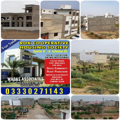 Rok Cooperative Housing Society 120 Sq Yards Plot For Sale