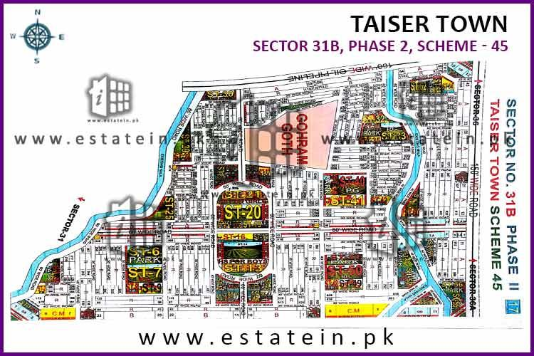 120 Yards Plot for Sale in Sector 31B Taiser Town Phase 2