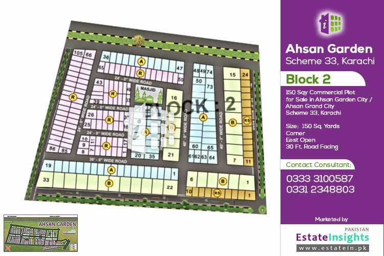 150 Sqy. Commercial Plot For Sale in Ahsan Garden