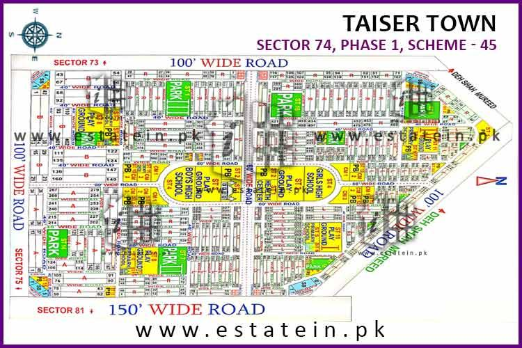 Sector 74/4 Taiser Town Phase 1 120 Sq yards plot for sale