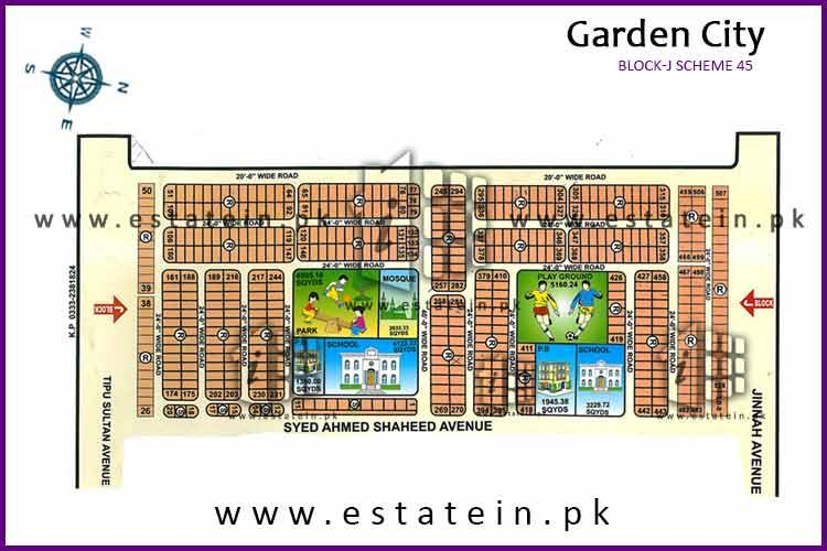 120 sqy plot for sale in block J Garden City