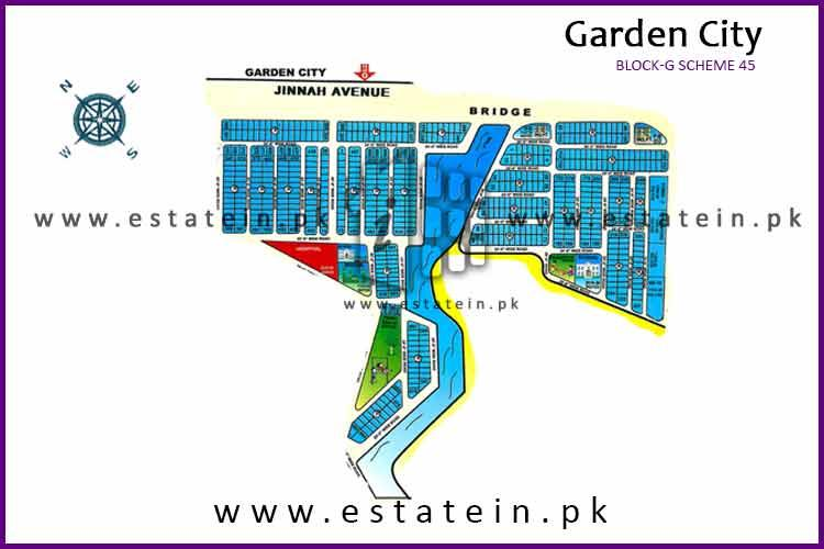 120 Sqy plot for sale in karachi , Garden City , Block G