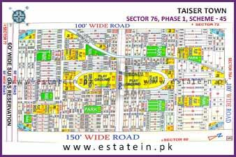 240 yards plot for sale in Sector 76 Taiser Town Karachi