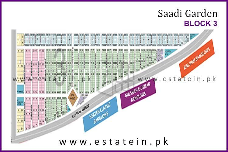 120 Yards Plot for Sale in Saadi Garden Block 3