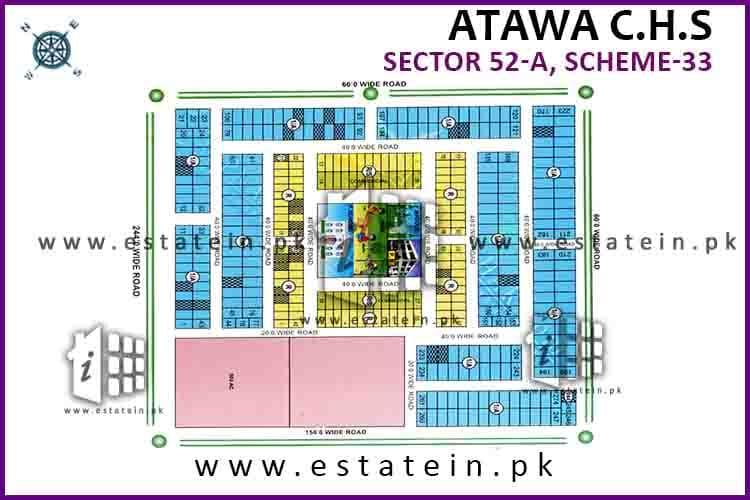 200 Sq Yards West Open Plot for Sale i Atawa CHS Scheme 33