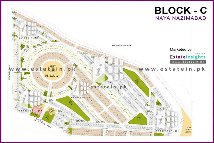 120 yards plot for sale in Naya Nazimabad Block c