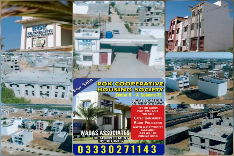 120 Sq Yards Plot For Sale in Rok Society