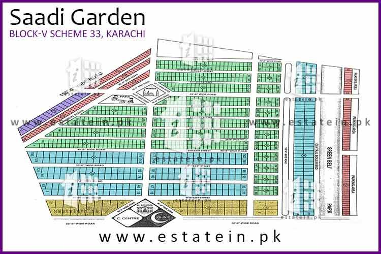120 Sq yards plot for sale in Saadi Garden Block 5