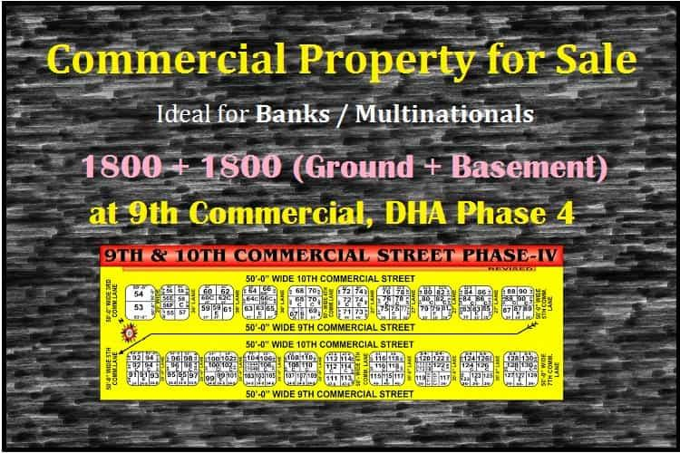 Commercial Property for Sale in 9th Commercial, DHA Phase 4