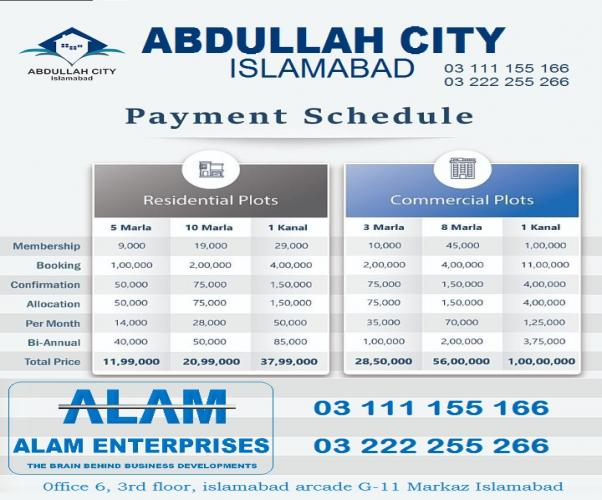 Abdullah City Islamabad 5 8 10 Marla plot for sale