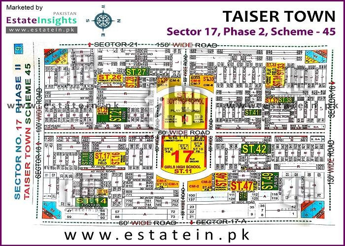 80 Sq. Yards Plot in Sale Scheme 45 Taiser Town